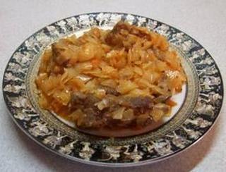Капуста с мясом - Бигос