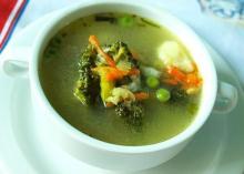 Диетический овощной суп-пюре из капусты для похудения