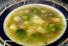 Суп молочный с брюссельской капустой